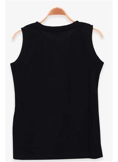 Breeze Erkek Çocuk Sıfır Kollu Tişört Ayakkabı Baskılı Siyah  Siyah